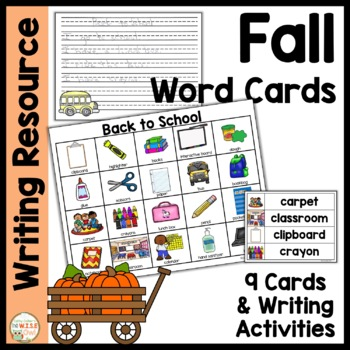 Word Cards: Fall BUNDLE