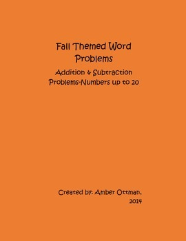 Fall Word Problems: Addition and Subtraction With Numbers