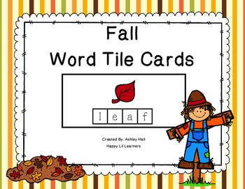 Fall Word Tile Cards