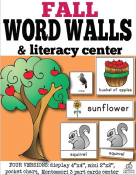 Fall Word Wall and Fall Literacy Center