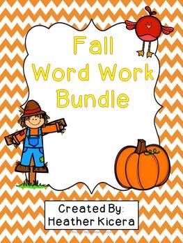 Fall Word Work