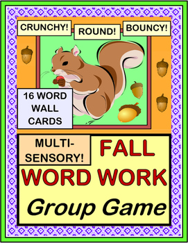 """Fall Word Work Game!"" - Active Vocabulary Fun!"