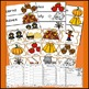 Fall Words, Fall Theme, Math and Literacy, Fall Activities