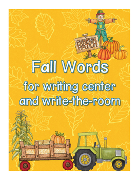 Fall Words for writing center and write-the-room
