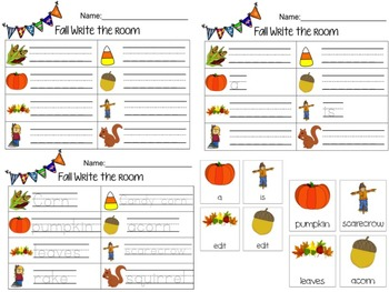 Fall Write The Room (Editable)