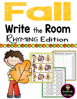 Fall Write the Room - Rhyming Edition