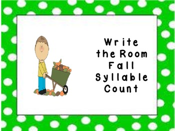 Fall Write the Room Syllable Count