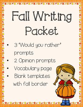 Fall Writing Packet