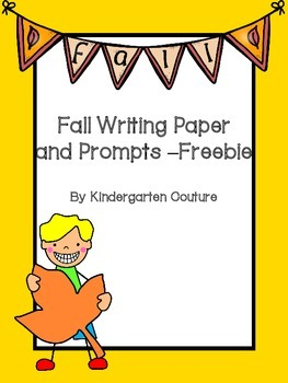 Fall Writing Paper -Freebie