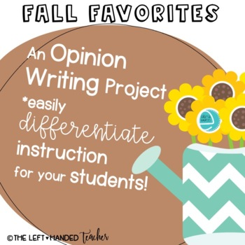 Fall Writing Project: Sunflower Theme