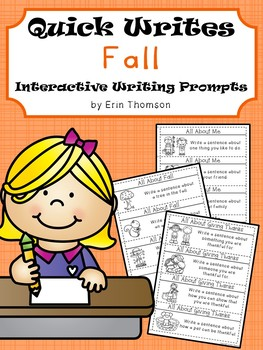 Fall Quick Writes ~ Interactive Writing Prompts