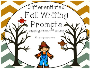 Fall Writing Prompts- Differentiated K-2 Writing