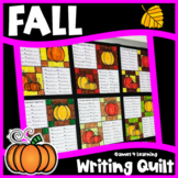 Fall Writing Prompts Quilt