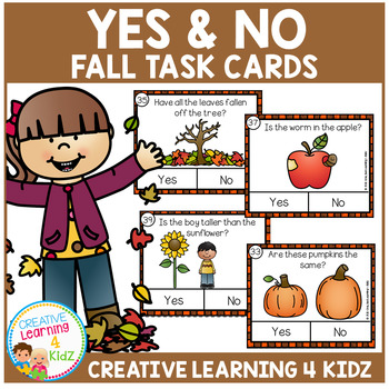 Fall Yes & No Picture Question Task Cards