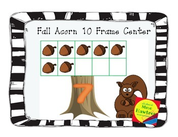 Fall acorn counting 10 frame French or English