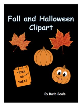 Fall and Halloween Clipart - FREEBIE