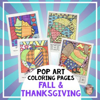 Thanksgiving Activities - Interactive Coloring Sheets - Pu