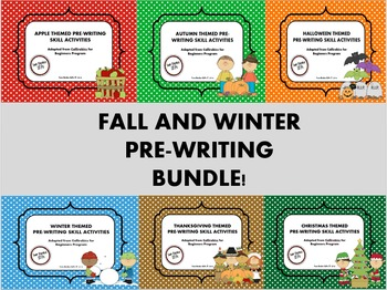 Fall and Winter Themed Pre-Writing Activities BUNDLE