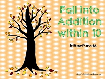 Fall into Addition within 10 Game Board