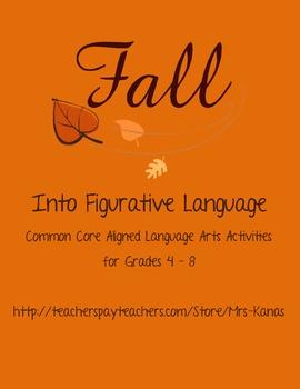 Fall into Figurative Language - Common Core aligned langua
