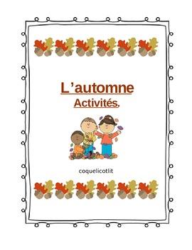 Fall : l'automne, activités en français.