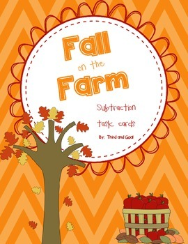 Fall on the Farm Subtraction Scoot and Bingo