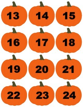 Fall themed Place Value Math Station (up to 30)