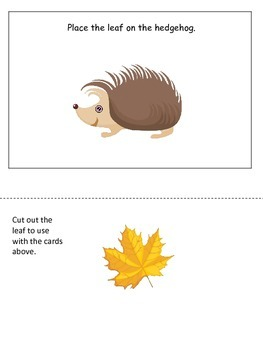 Fall themed Positional Cards preschool educational activit