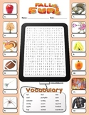Fall word search and identifying