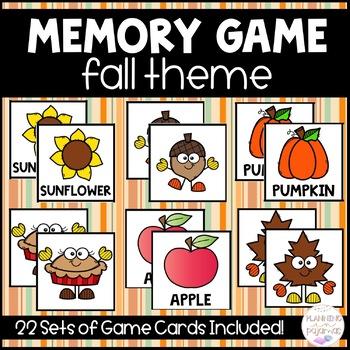 Fall/Autumn Memory Game!