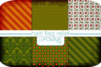 Fall/Autumn Patterned Digital Paper Pack - Support Haiti Relief