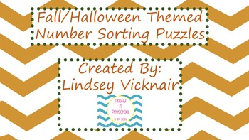 Fall/Halloween Number Order Puzzles