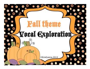 Fall/Halloween Theme Vocal Exploration Slides