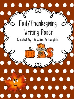 Fall/Thanksgiving Writing Paper
