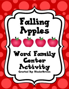 Falling Apples Word Family Center Activity! Fall Theme