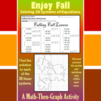 Falling Fall Leaves - 30 Linear Systems & Coordinate Graph