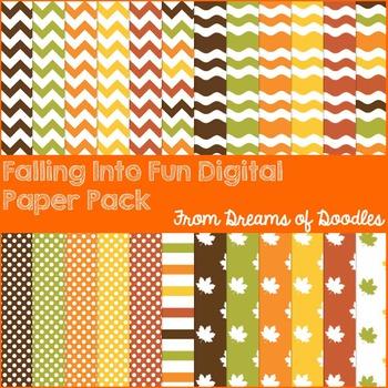 Falling Into Fun Digital Paper Pack