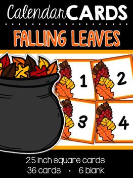 Falling Leaves Calendar Cards