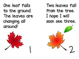 Falling Numbers- A First Grade Book FREEBIE