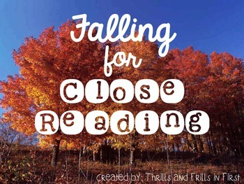 Falling for Close Reading (September, October and November