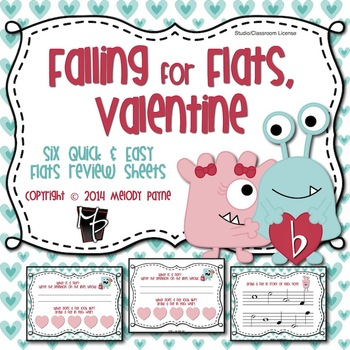 Falling for Flats, Valentine! 6 Quick & Easy Review Sheets