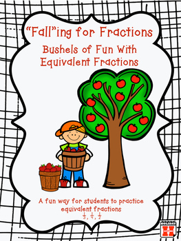 Falling for Fractions~Apple Themed Equivalent Fraction Han