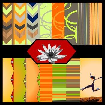 Falling for School {Digital Paper Background Set}