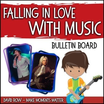 Falling in Love with Music -- Music Bulletin Board Set