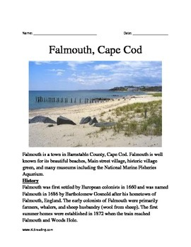 Falmouth, Cape Cod - Informational Article Facts Questions