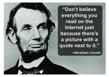 False Lincoln quote A3