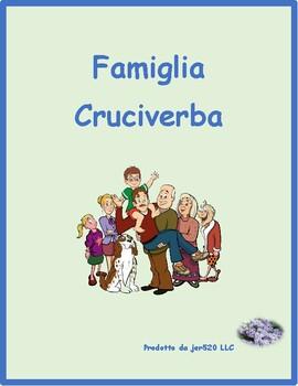 Famiglia (Family in Italian) crossword puzzle