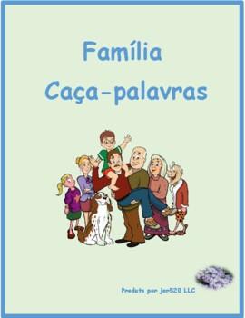 Familia (Family in Portuguese) Wordsearch for differentiat