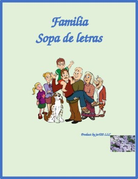 Familia (Family in Spanish) Wordsearch for differentiated