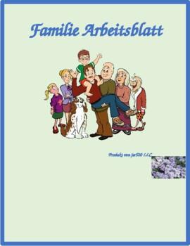 Familie (Family in German) Worksheet
